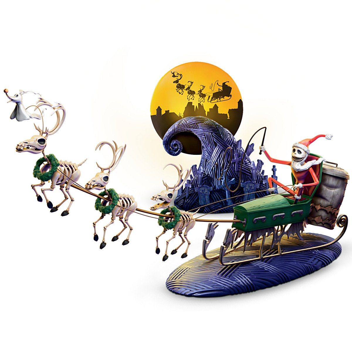 Amazon.com: Village Set: Tim Burton\'s Nightmare Before Christmas ...
