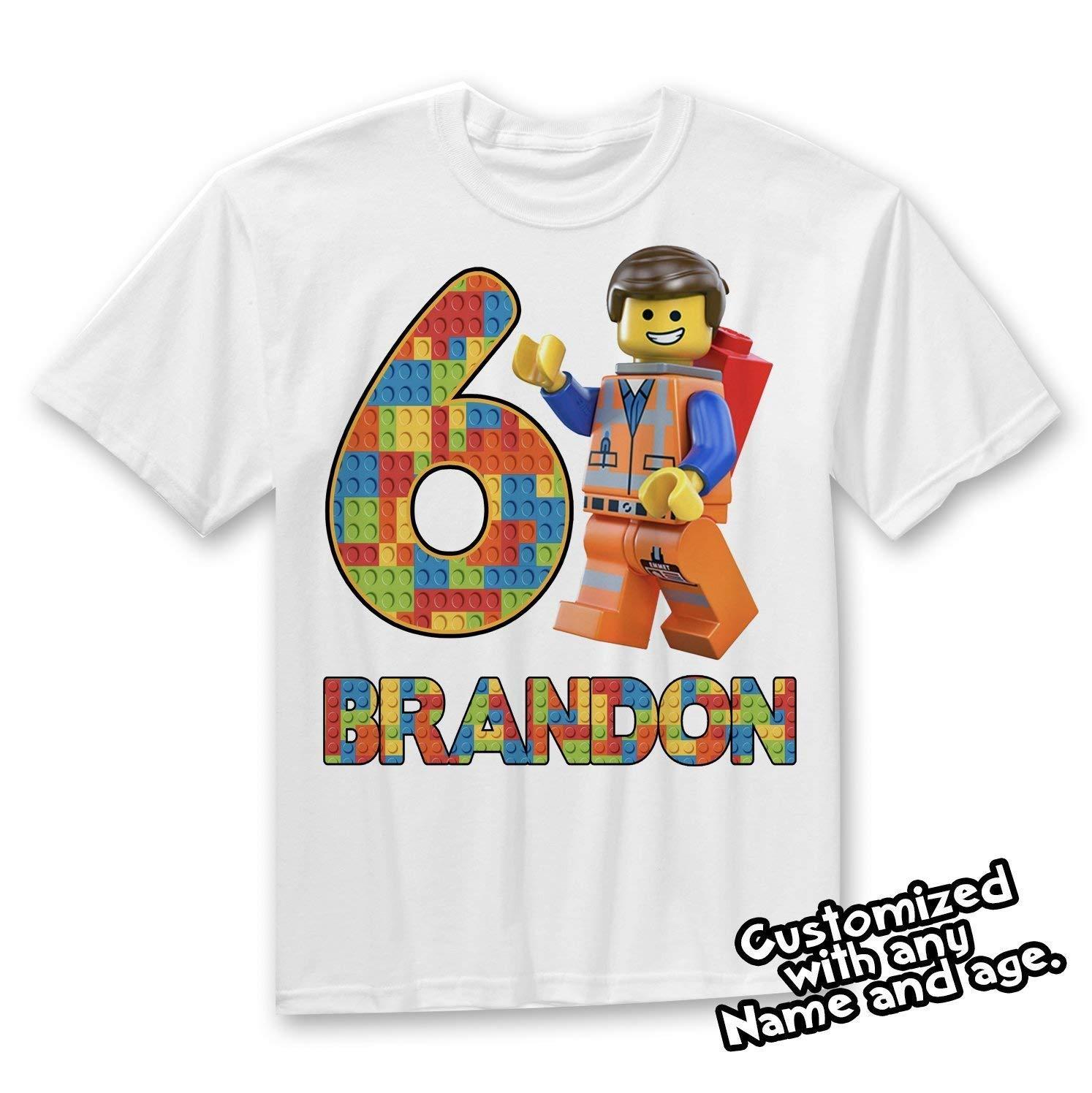 Lego Birthday Shirt, Lego Theme party shirt, Lego Party gift