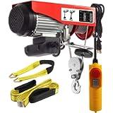 Partsam 880 lbs Lift Electric Hoist Crane Remote Control Power System, Zinc-Plated Steel Wire Overhead Crane Garage…