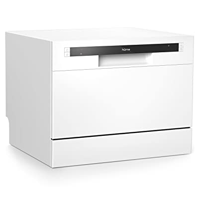 4. Best Compact Portable: hOmeLabs Compact Countertop Dishwasher (HME010033N)