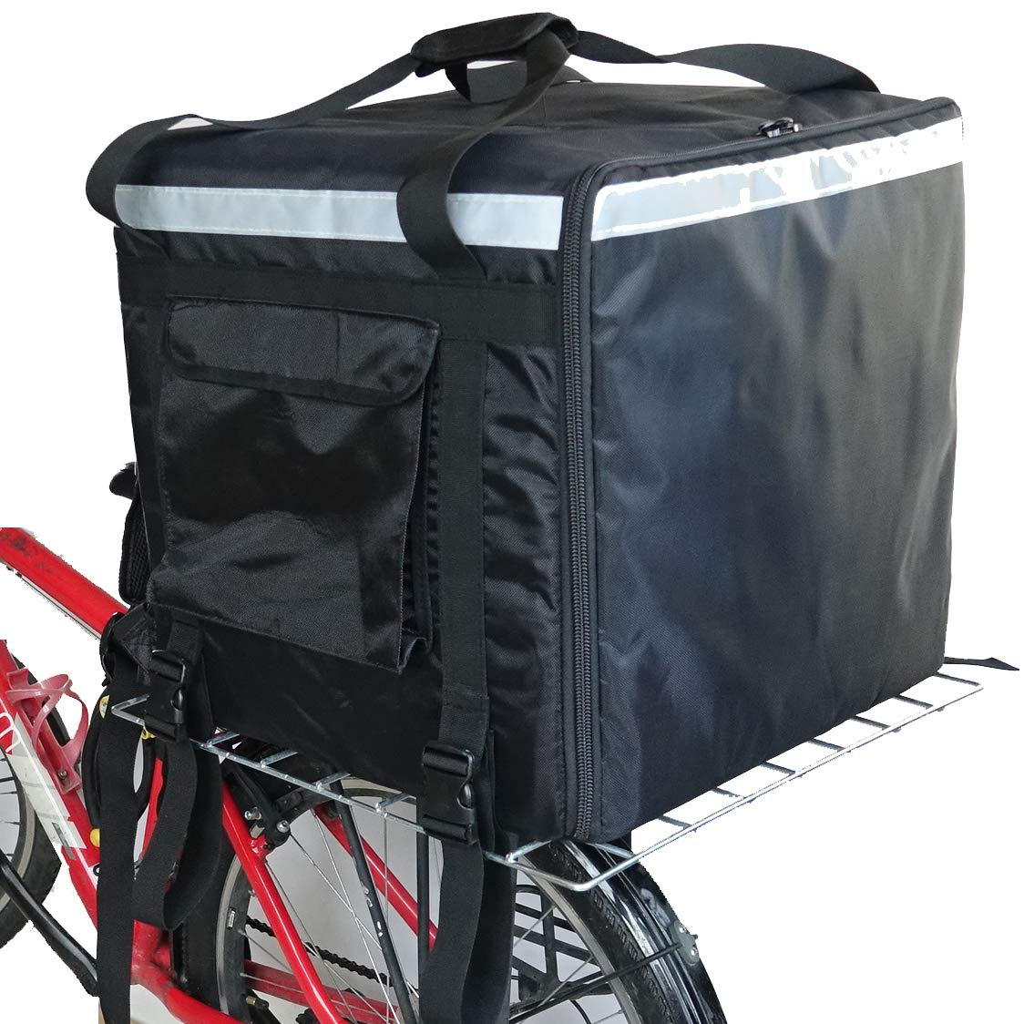 PK-140Z: Huge Heat Insulation Food Delivery Backpack, Big Pizza Delivery Bags, 2 Layers, Rigid Frame, Side Loading, 20