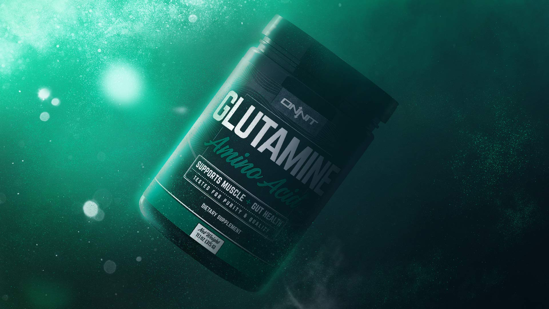 Onnit Glutamine | Boosts Aerobic Performance, Reaction Time and Gut Health | NSF Certified for Sport | 60 Servings (Unflavored) by ONNIT