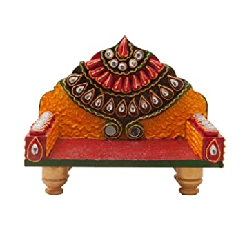 Amazoncom The Hue Cottage Decorative Wooden SInghasan for