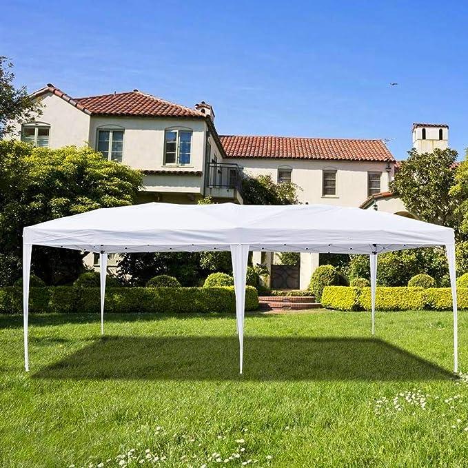 Sunny-house - Carpa Plegable Impermeable de 3 x 6 m para Fiesta, Boda, Tienda de campaña al Aire Libre, 6 Paredes Laterales extraíbles: Amazon.es: Jardín
