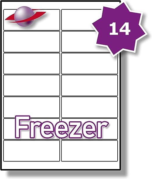 14 por página/hoja, 5 hojas (70 etiquetas adhesivas del congelador ...