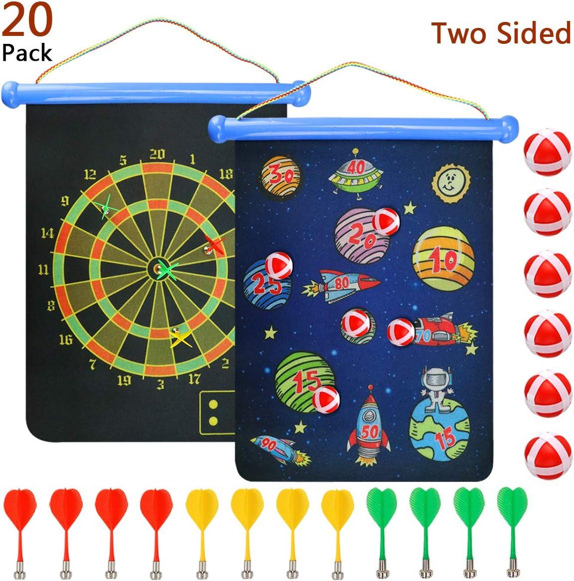 Coddsmz Pizarra magnética para dardos en interiores y exteriores Juegos para niños y adultos con 18 dardos, juguete seguro para colgar fácilmente en cualquier lugar, Color-1, 15IN: Amazon.es: Deportes y aire libre