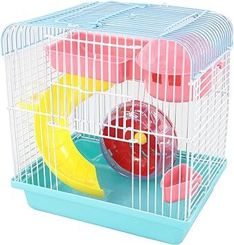 YOMMY® Jaula de Hamster Escalera Rueda Chalet Para Hamster 23 * 17 * 25CM YM-0116 (Azul): Amazon.es: Deportes y aire libre
