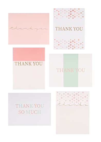 amazon com 30 letterpress thank you cards with envelopes and