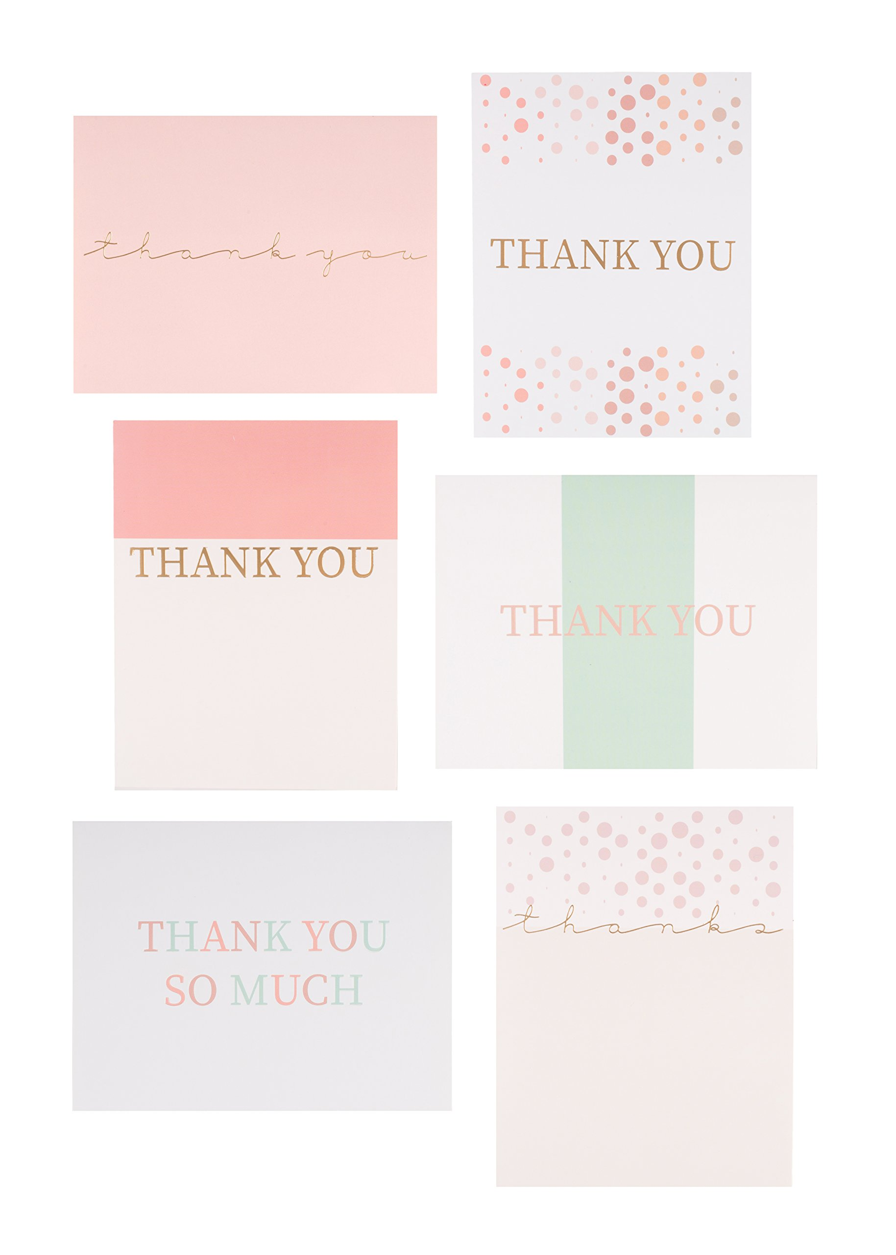 30 Letterpress Thank You Cards with Envelopes and Sticker Seals (4.25 x 5.5 inch)- for bridal shower, weddings, baby shower, graduation, anniversary, business and professional use. Blank Inside!