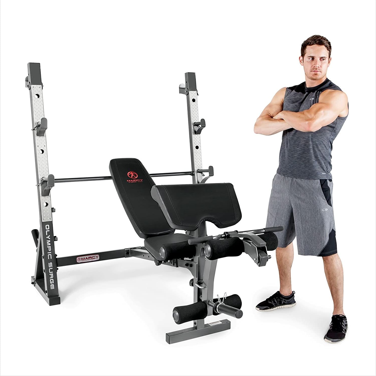Amazon com : Marcy Olympic Weight Bench for Full-Body