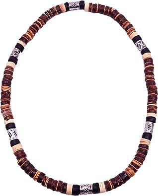 collier homme en perle de bois