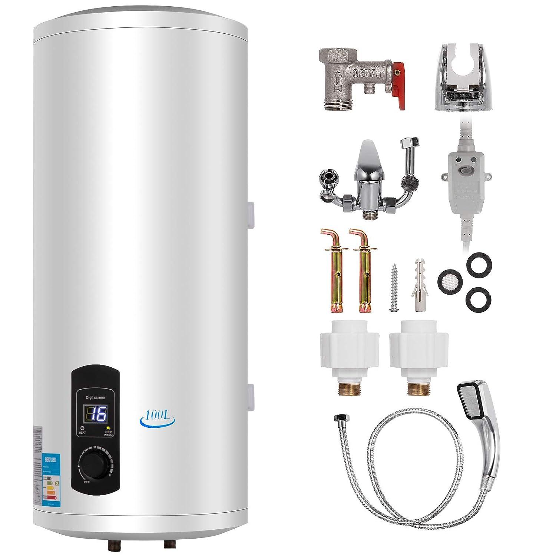 80L FlowerW 80L Elektrische Warmwasserbereiter 2KW Warmwasserbereiter mit Tank Warmwasserbereiter f/ür K/üche,Bad