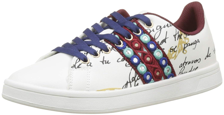 TALLA 36 EU. Desigual Shoes_Cosmic_Exotic Lettering, Zapatillas para Mujer