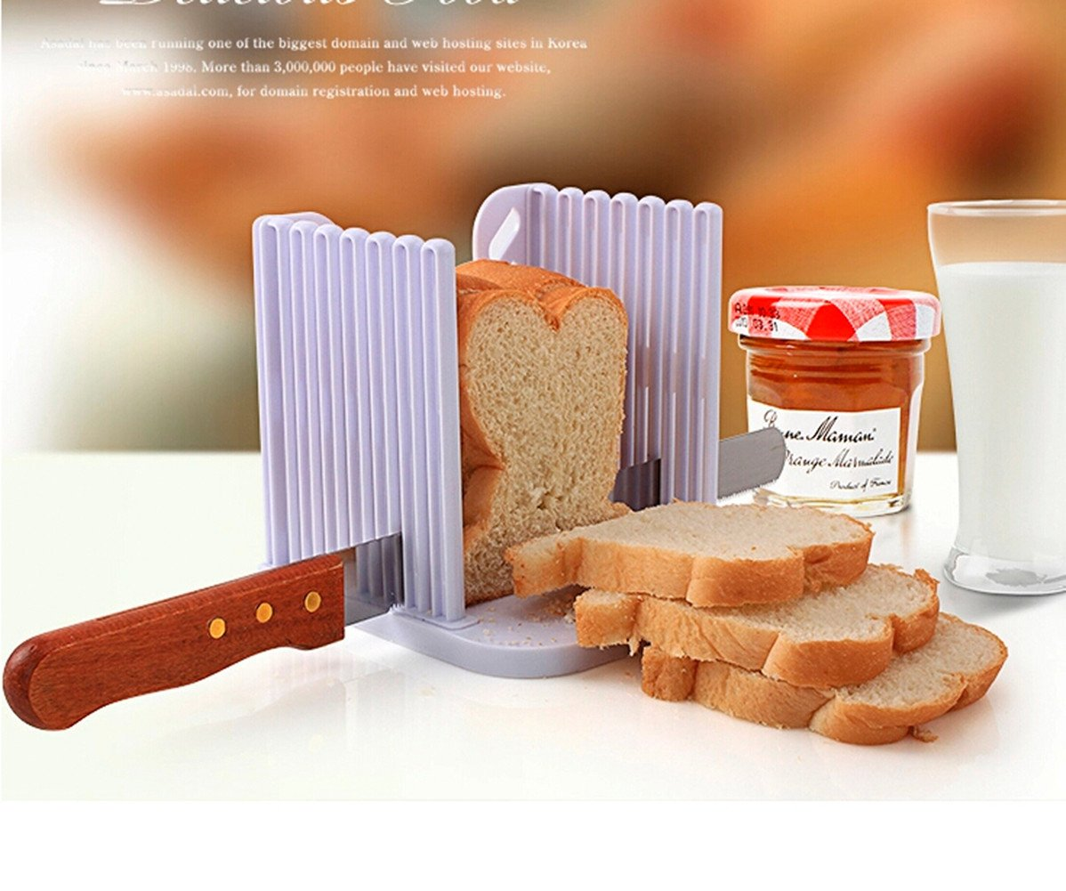 Aimeart Kitchen Tool Bread Loaf Slicer Toast Slicing Guide Even Slices by Aimeart (Image #3)