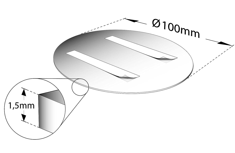 Rund 100mm /Ø eloxiert Kinekt3d Leitsysteme T/ürschild Hinweisschild Wickelraum Aluminium