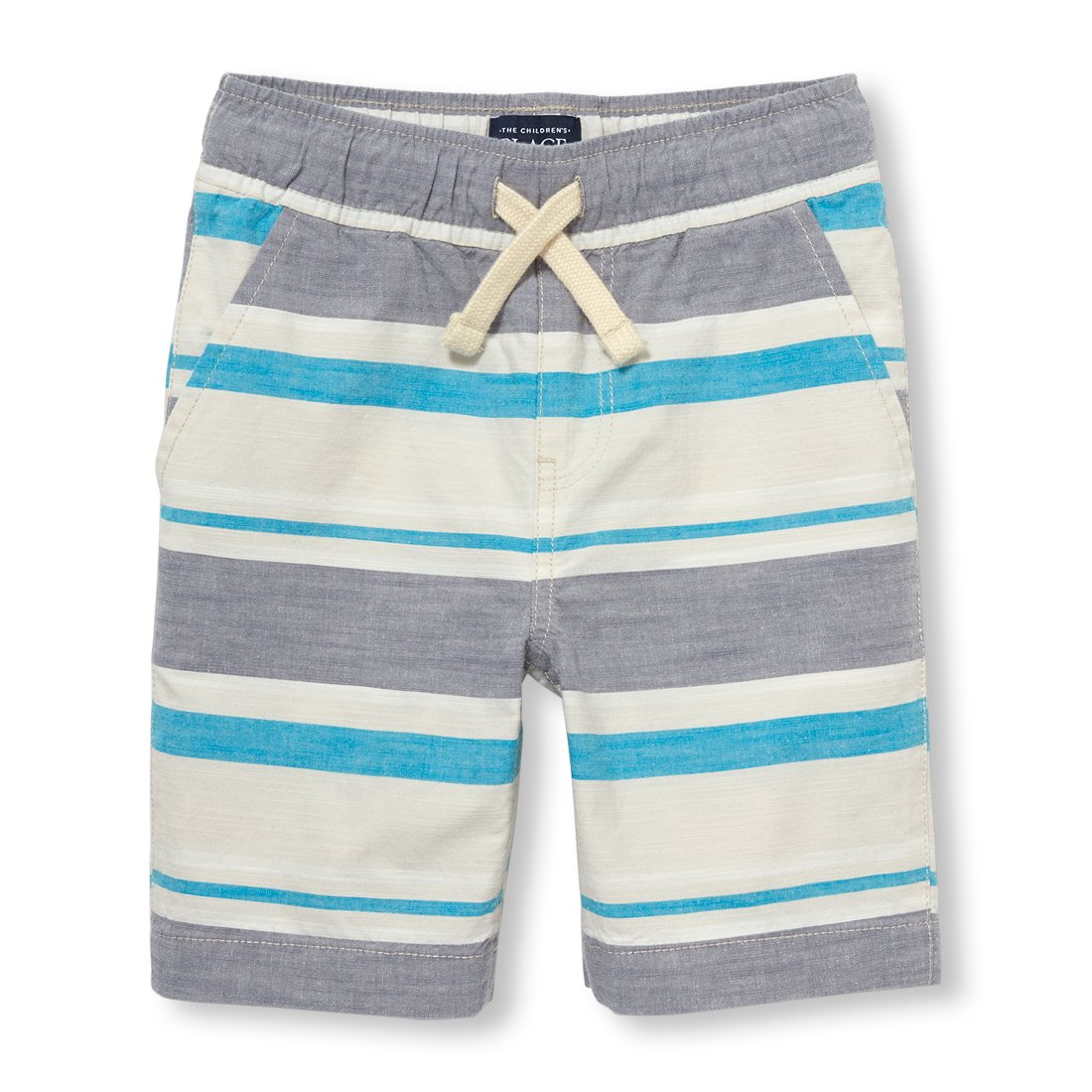 The Children's Place Big Boys' Jogger Shorts, Stone 94143, 12