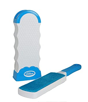 Aqua Laser Cepillo para depilación Elimina fácilmente el Pelo de su Perro o Gato - En Azul - Eliminador de restos de Piel y Pelusas: Amazon.es: Productos ...