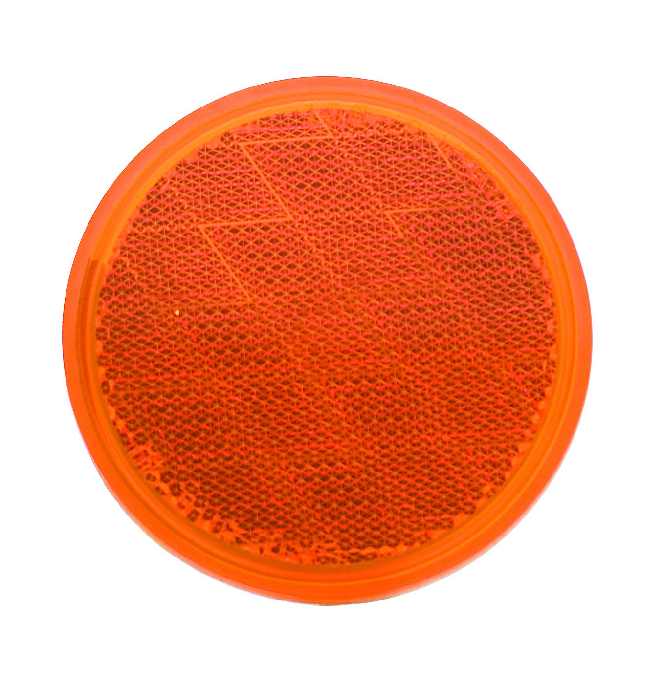 Uriah Products UL475000 3-/¼ Round Amber Adhesive Backed Reflector