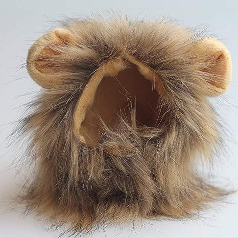 LYX Peluca de Melena de león para Perro, Gato, Disfraz de Halloween ...