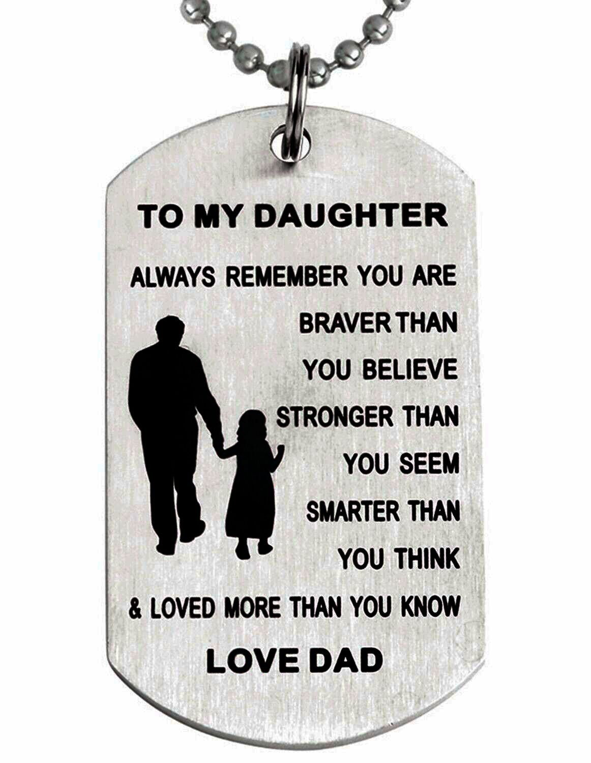 Amazon com: To My Daughter Always Remember You Are Braver