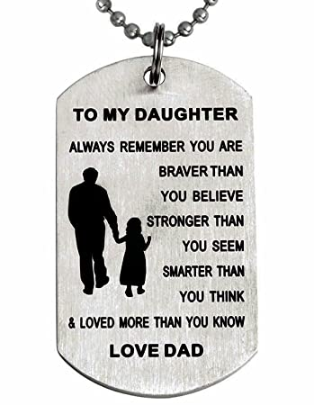 Amazoncom To My Daughter Always Remember You Are Braver Than You