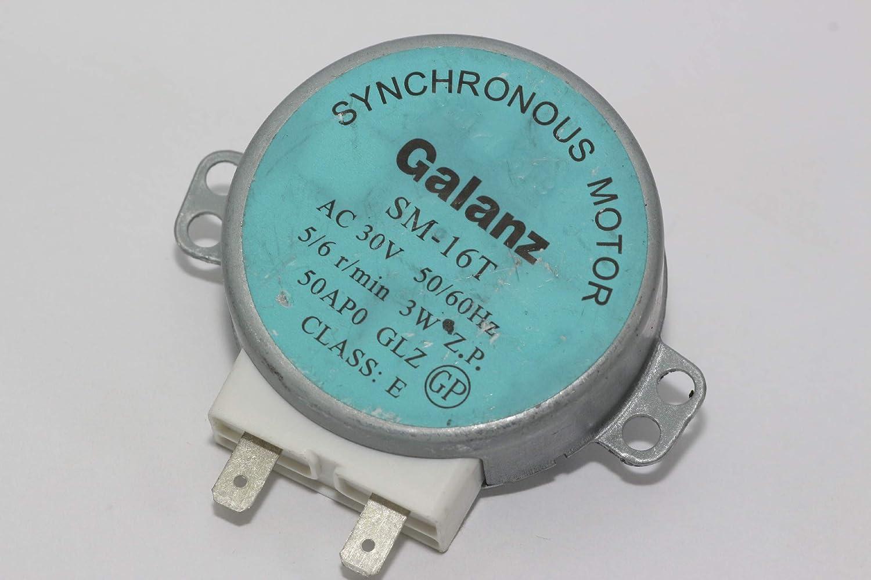 Sanyo Galanz SM-16T 30V AC Motor de mesa giratoria para microondas ...