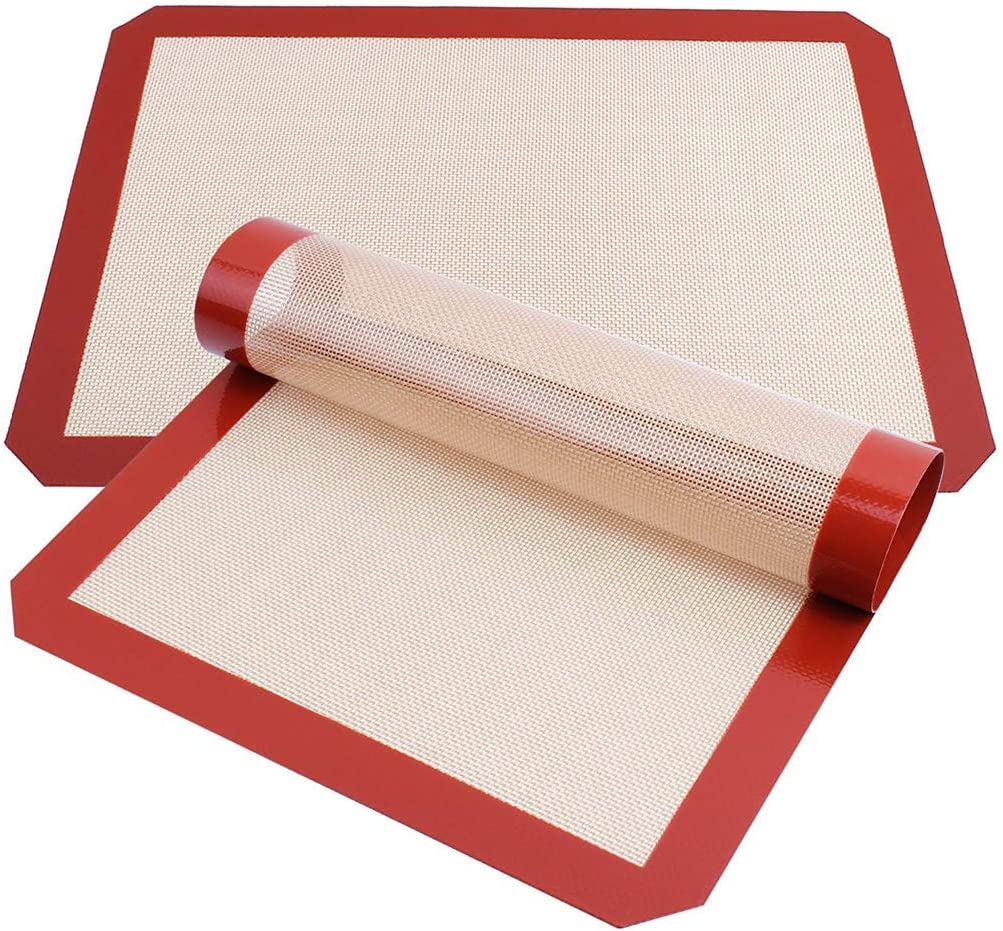 Silicone baking mats non stick - Liner for Oven Toaster freeze Microwave pan - Premium lucid silicone food grade - 16-1/2