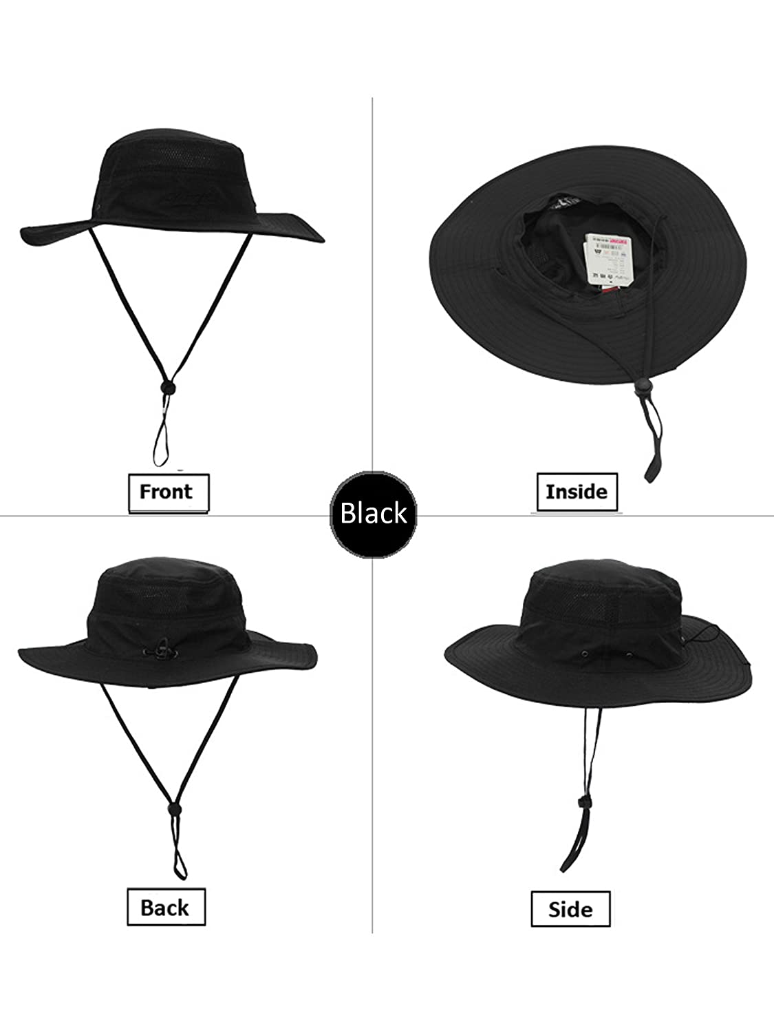 Unisex Outdoor Bucket Hat Fisherman Hat Breathable Quick Drying Sun Protection for Head Circumference 55-60 cm