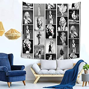 Marilyn Monroe Tapestry Wall Hanging Home Decor for Living Room Bedroom Dorm Room 59x59 Inch Wall Art Film Poster