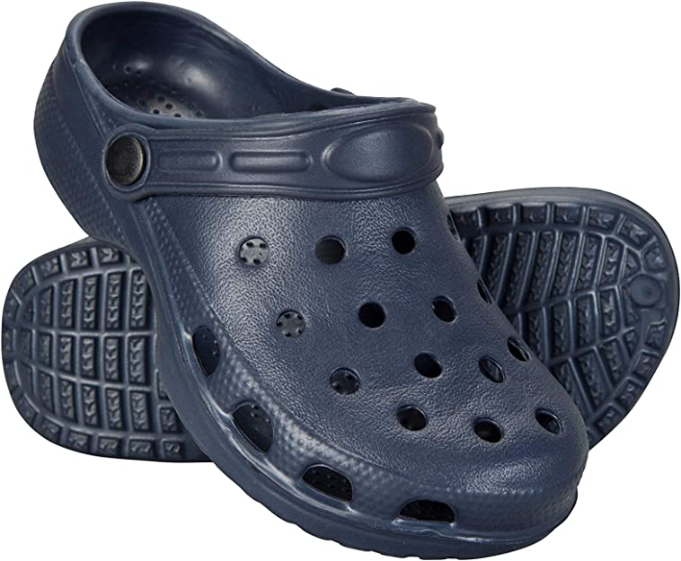 Mountain Warehouse Kids Shark Clogs Slip-on with Textile Upper in Navy