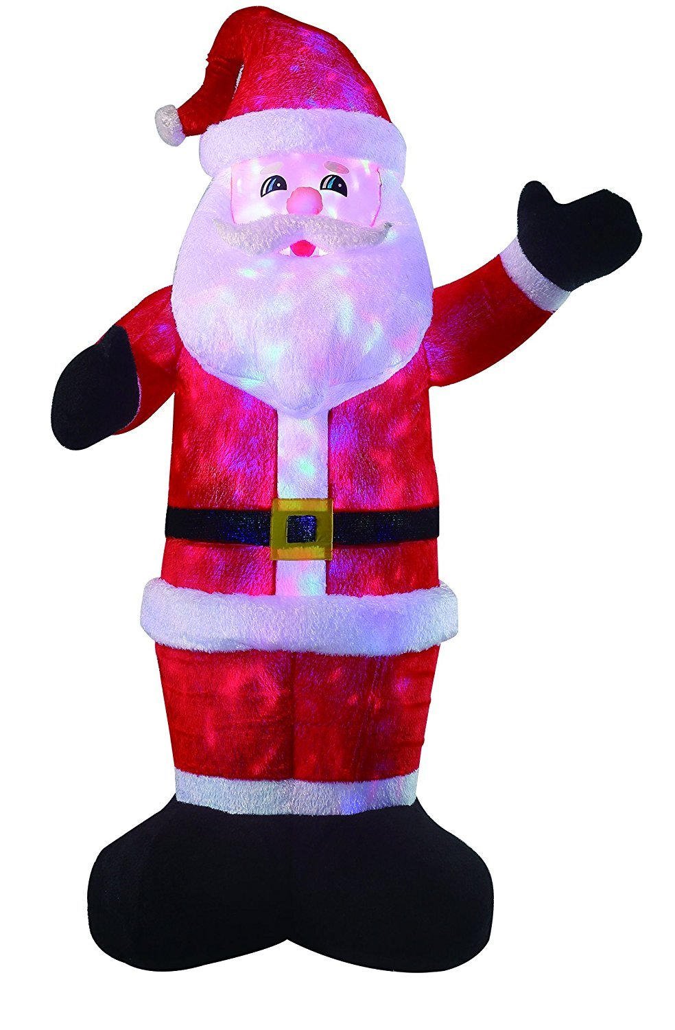New 8 FT Inflatable Plush Santa Clause With 2pcs Disco Lights Christmas X'mas Decoration by Beyond Shop USA (Image #2)