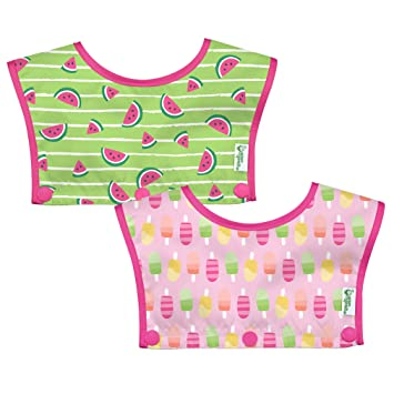 Boys Girls Waterproof Baby Bibs Silicone+Plastic Apron Baby Feeding Food Catcher