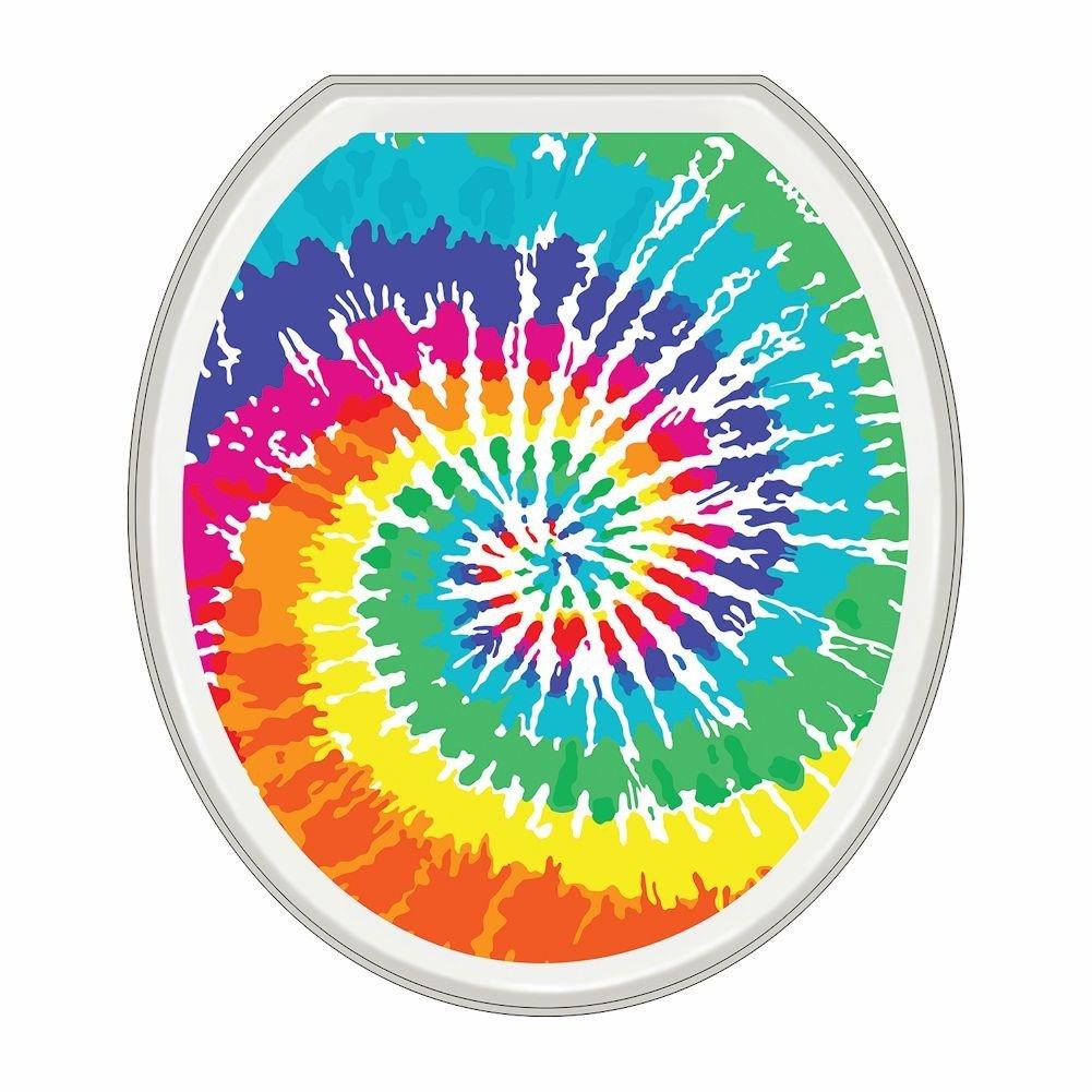 Tie Dye Toilet Seat Lid Sticker Tattoo - Oval hot sale 2017