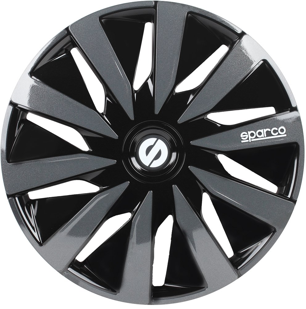 Sparco SPC1491BKGR wheel covers Lazio 14-inch black/grey