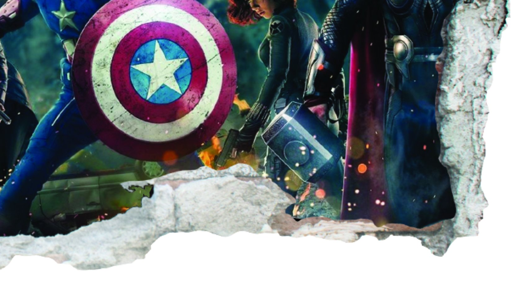 GNG Marvel Avengers Vinyl Smashed Wall Art Decal Stickers Bedroom Boys Girls 3D L by giZmoZ n gadgetZ (Image #3)