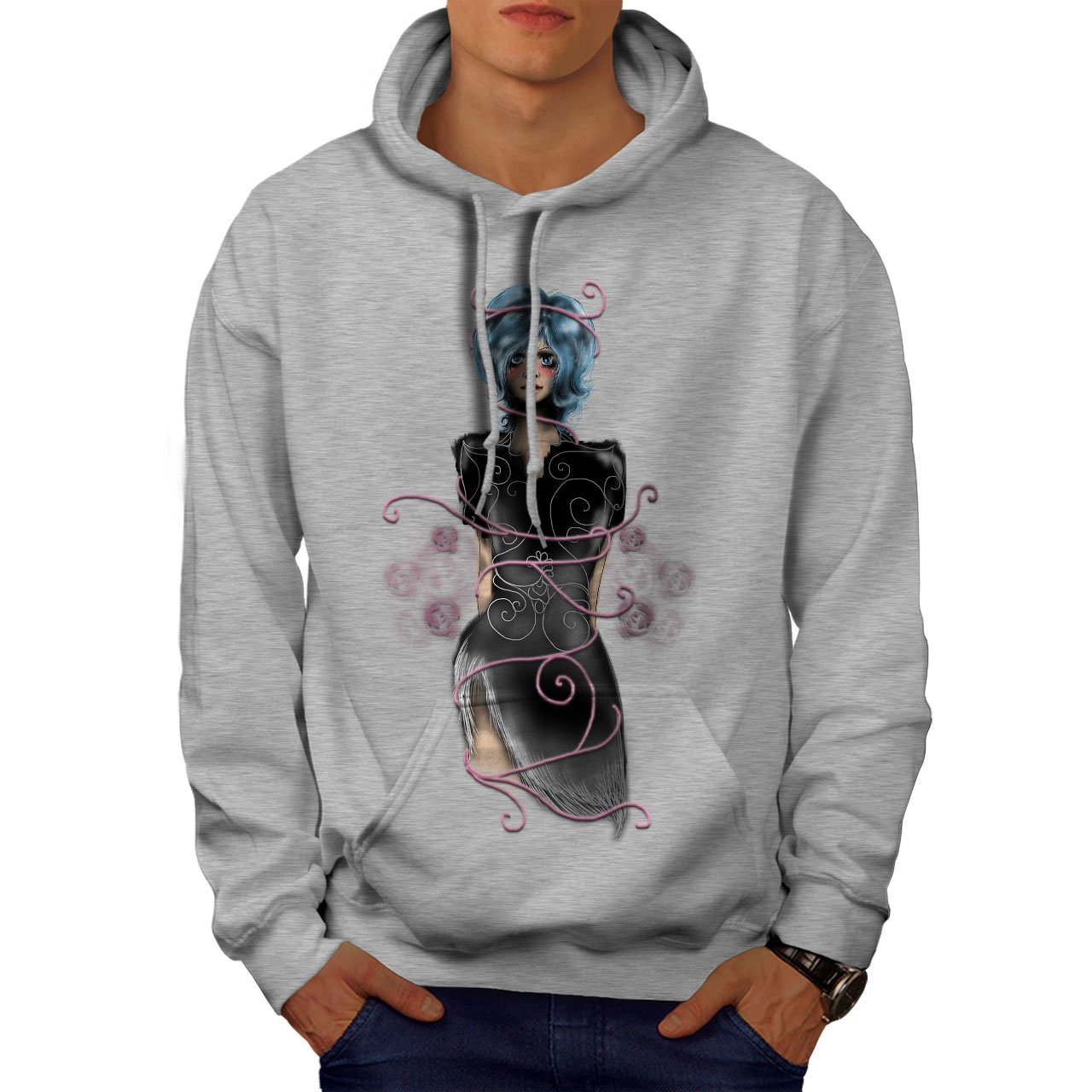 Scary Hooded Sweatshirt wellcoda Girl Mystic Being Mens Hoodie