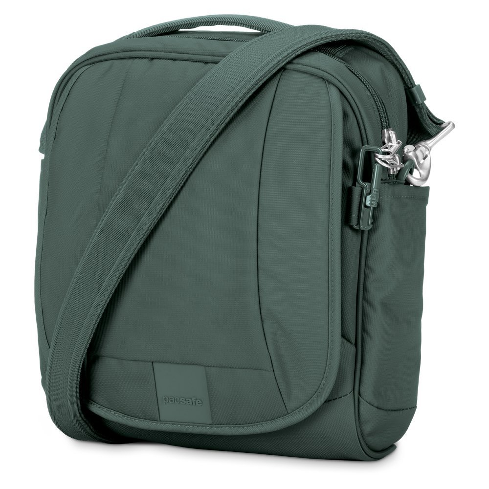 Pacsafe Metrosafe LS200 Anti-Theft Shoulder Bag, Pine Green