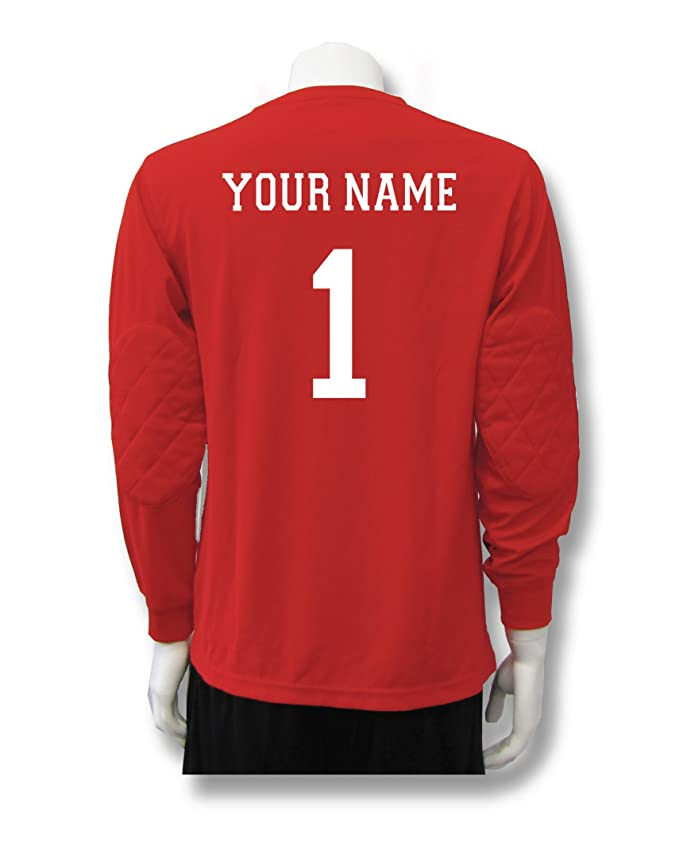 1e3b1acc5a8 Amazon.com  Soccer Goalkeeper Jersey personalized with your name and number   Clothing