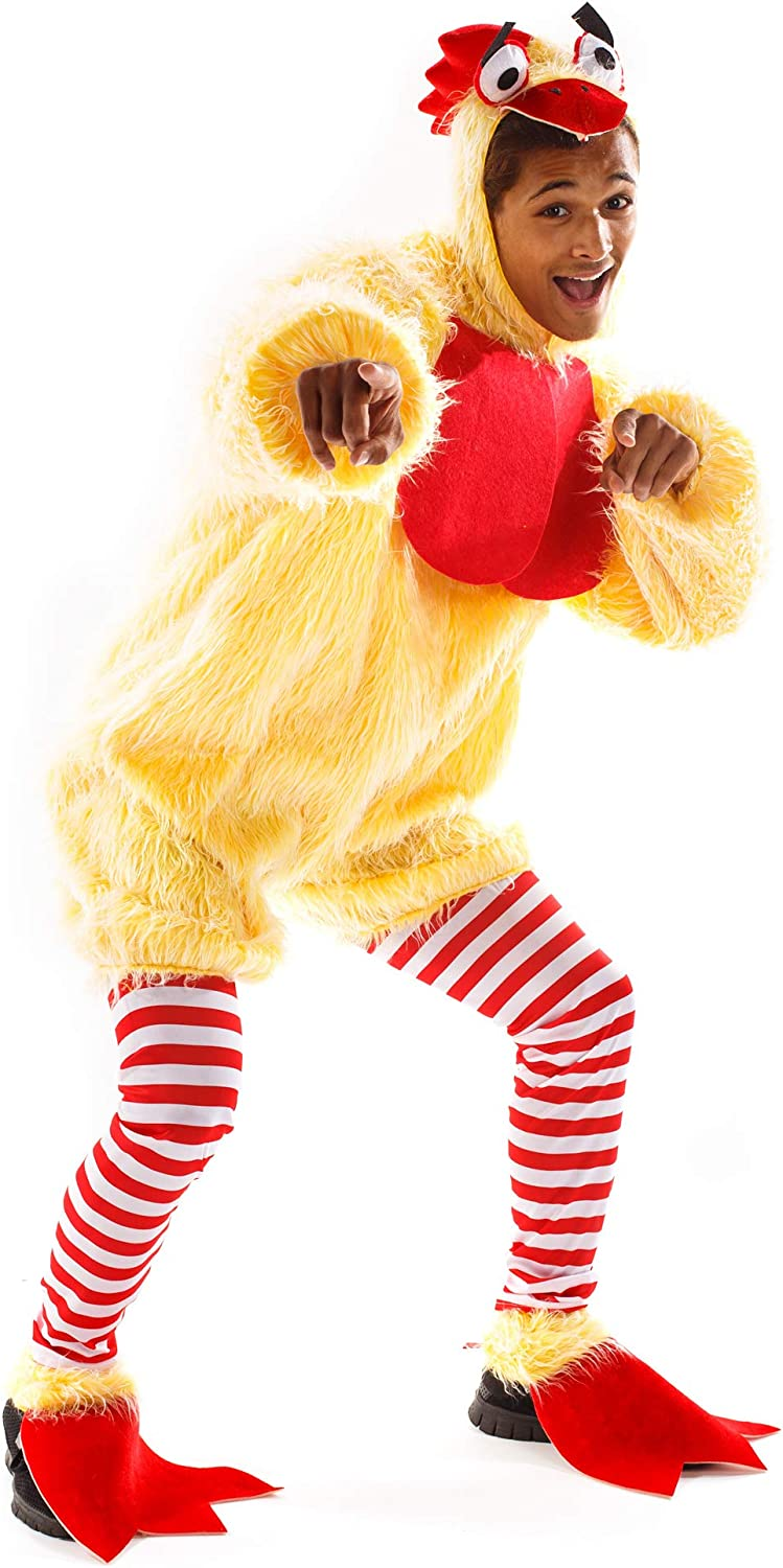 Funky Chicken Costume - Funny Silly Unisex Halloween Adult Body Suit