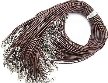Lederband Echtleder  2mm   3mm Braun Kette Halskette Lederkette