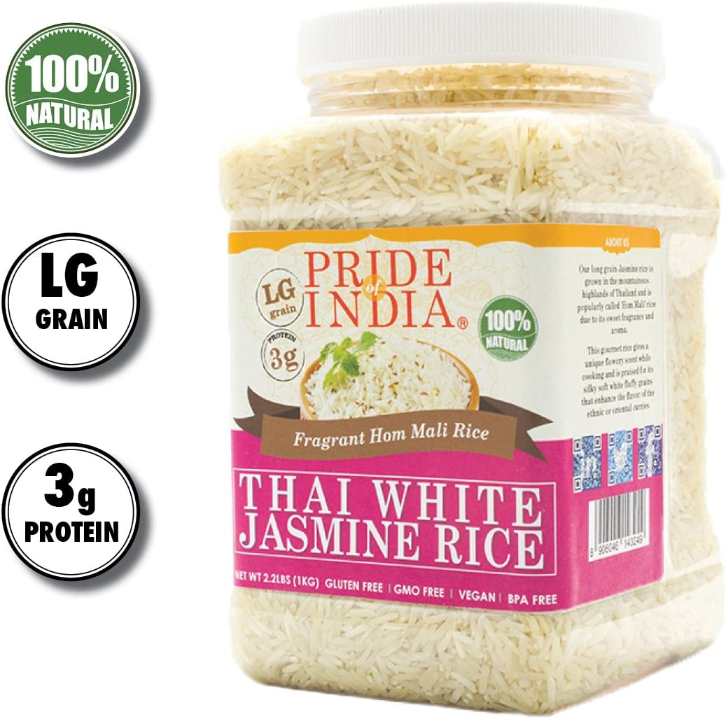 El orgullo de la India - Thai Jasmine Rice Blanco - fragante arroz ...