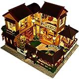 Miniature Dollhouse DIY Kit,Furniture House Lotus Pond Moonlight Architecture Handmade Entertainment Wooden Dollhouse…