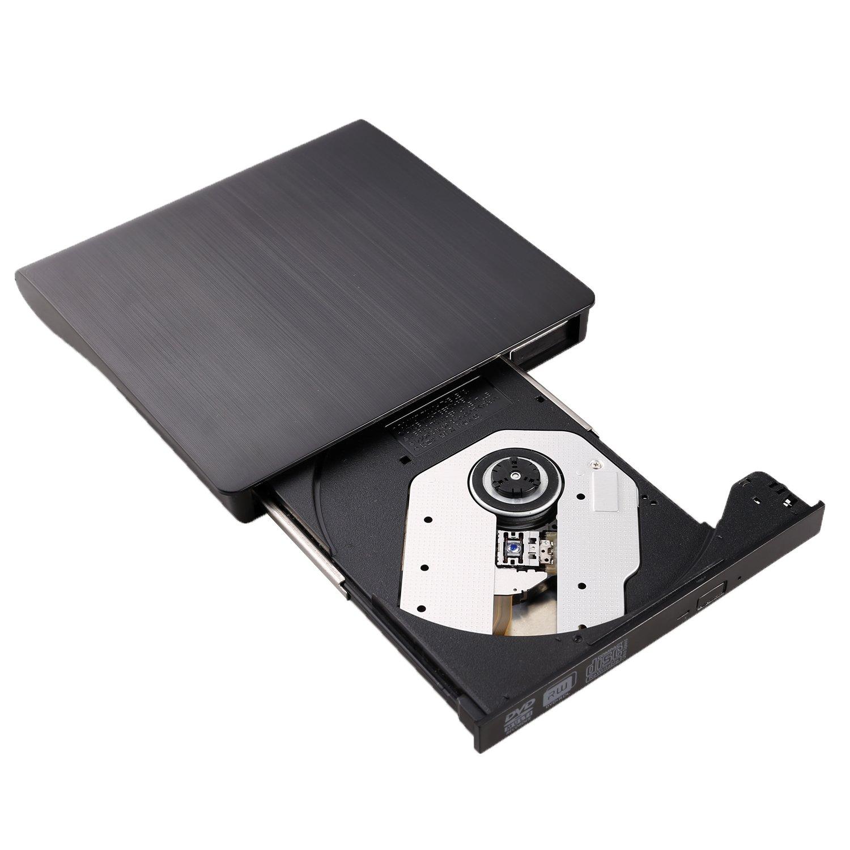 External DVD Drive LEADSTAR USB 3.0 CD DVD RW/DVD CD ROM Drive Writer Rewriter Burner for Mac OS Windows Linux System Laptop PC Desktop Notebook, Black by LEADSTAR (Image #7)