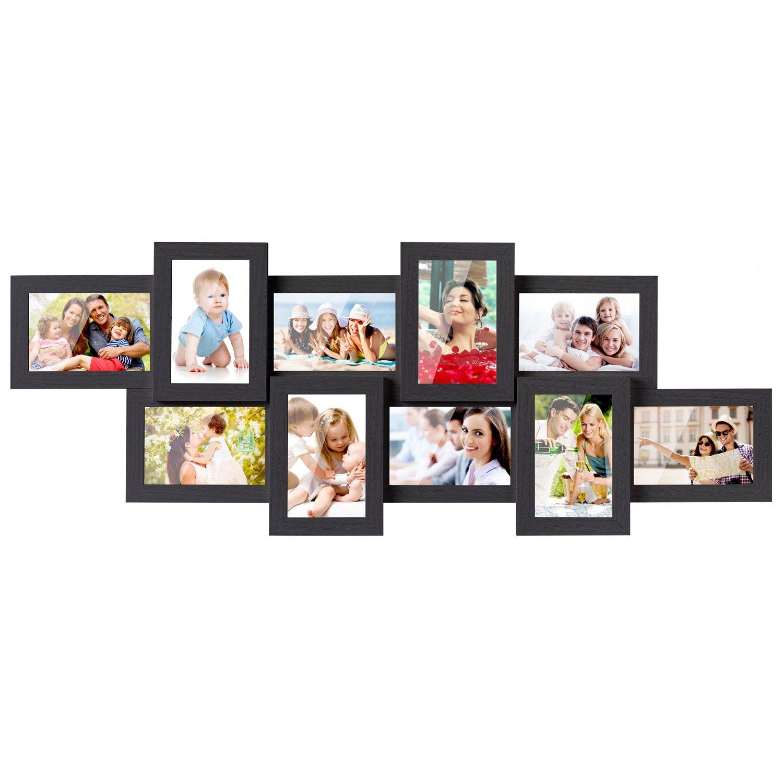 MVPOWER 10er Bilderrahmen Set je 10x15 cm Fotorahmen Foto Collage ...