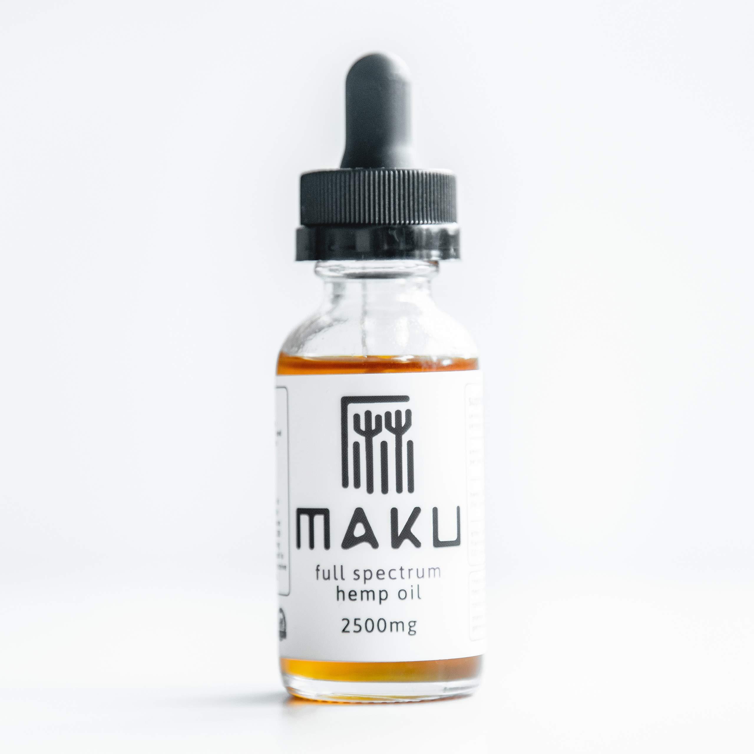 Maku Full Spectrum Hemp Oil Elixir (1000mg | 2500mg) - Rich in Omega-3
