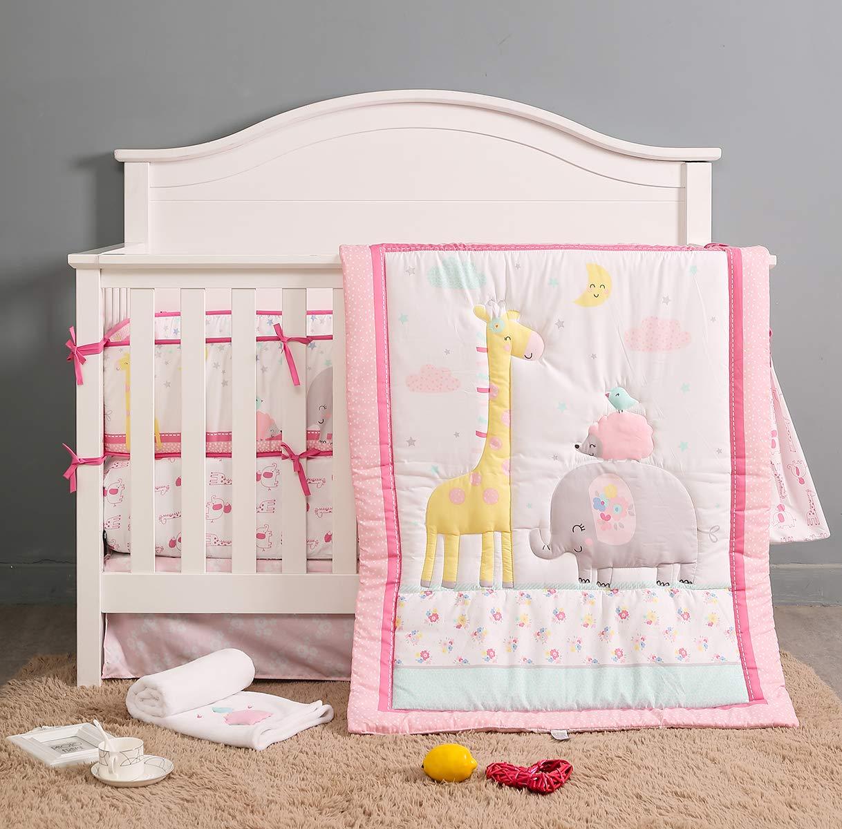 rosa Elefant TEALP Bettumrandung Baby Nestchen f/ür Babybett Babybett baby Nest Kopfschutz Nestchen babybettumrandung Kantenschutz Bettausstattung 180 x 25cm