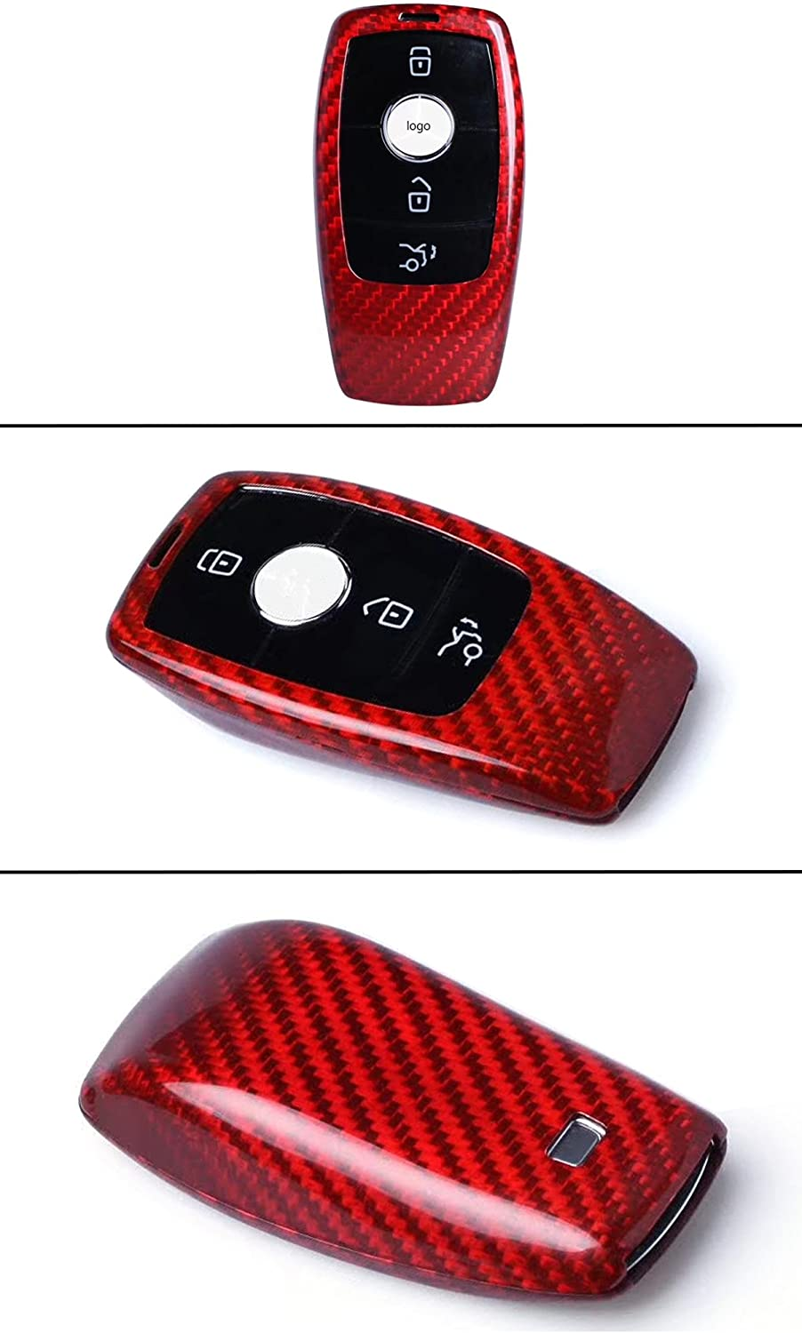 Cuztom Tuning RED Carbon Fiber CASE for 2017-2019 Mercedes Benz W213 E-Class E300 E43 E63 S-Class S63 S500 C-Class C63 W205 Smart Key FOB