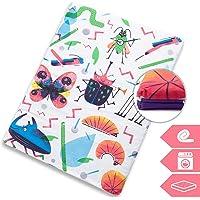 Manta de juegos para bebés acolchada plegable enrollable