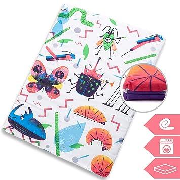 Manta de juegos para bebés acolchada plegable enrollable gimnasio suelo actividades alfombra Tamaño único 130x90 cm Fabricada en España Decoracion ...