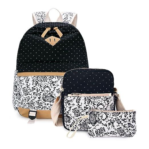 50f9a46c7d24 Abshoo Causal Girls School Bookbags Canvas Rucksack Backpack For Girls  Backpacks Set